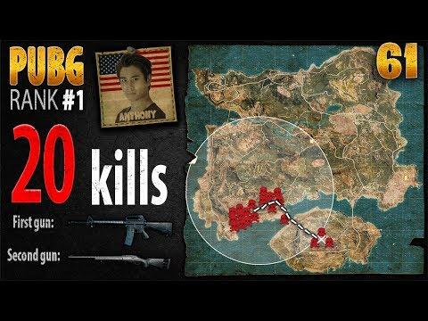 PUBG Rank 1 - Anthony 20 kills SOLO - PLAYERUNKNOWN'S BATTLEGROUNDS #61