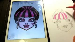 How to draw Monster High Characters Draculaura