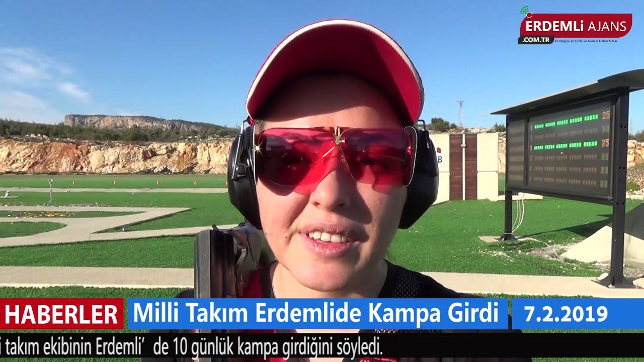 Milli Takım Erdemli'de Kampa Girdi