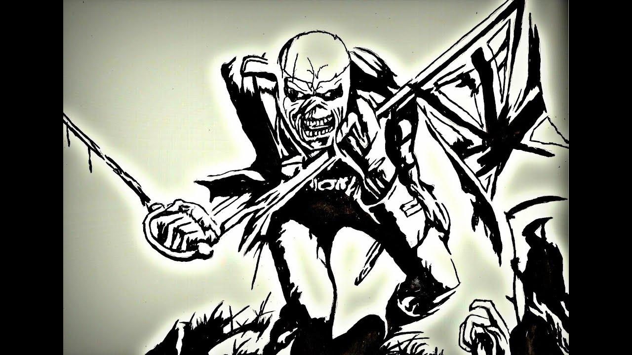rysunek 1 eddie  iron maiden  u017byczenia noworoczne heavy metal logos free heavy metal logos for copying