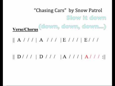 Chasing Cars Moving Chord Chart Youtube