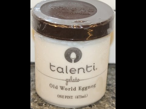Talenti Gelato: Old World Eggnog Review