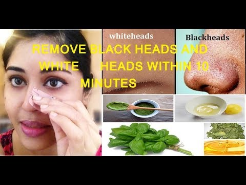 remove black heads and white heads within 10 minitues