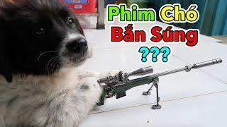 Lâm Vlog - Bộ Sưu Tập Móc Khoá PUBG | Phim Chó Bắn Súng Mini | Dog Gun Fight