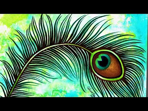 49183b9a6 Speed Painting - Peacock Feather Tattoo Illustration - Watercolor ...