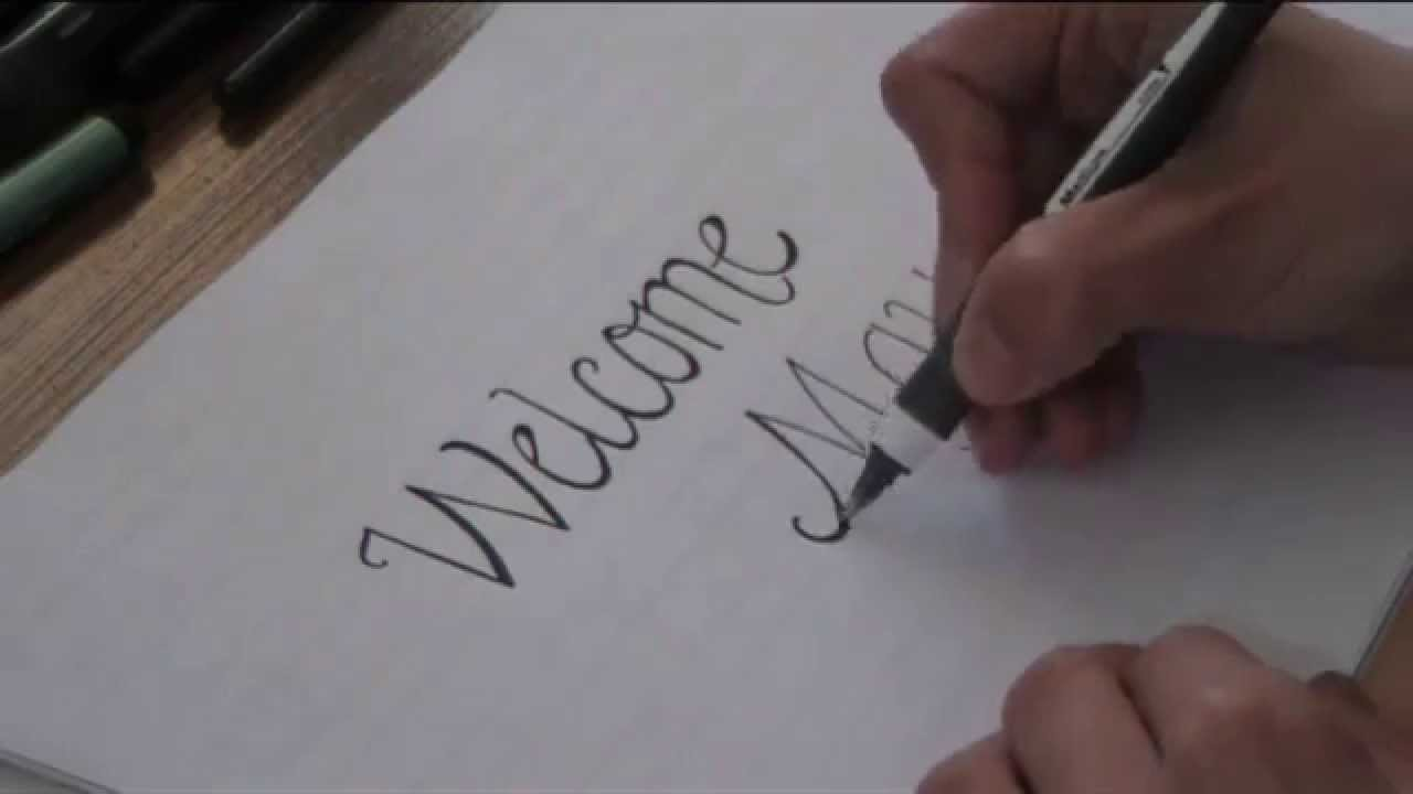 cursive fancy letters how to write welcome