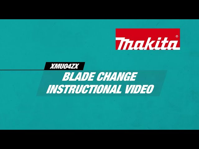 How to change the blade on a Makita 18V LXT Grass Shear (XMU04ZX)