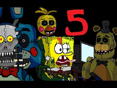 Spongebob FIVE NIGHTS AT KRUSTY KRAB 5 THE END