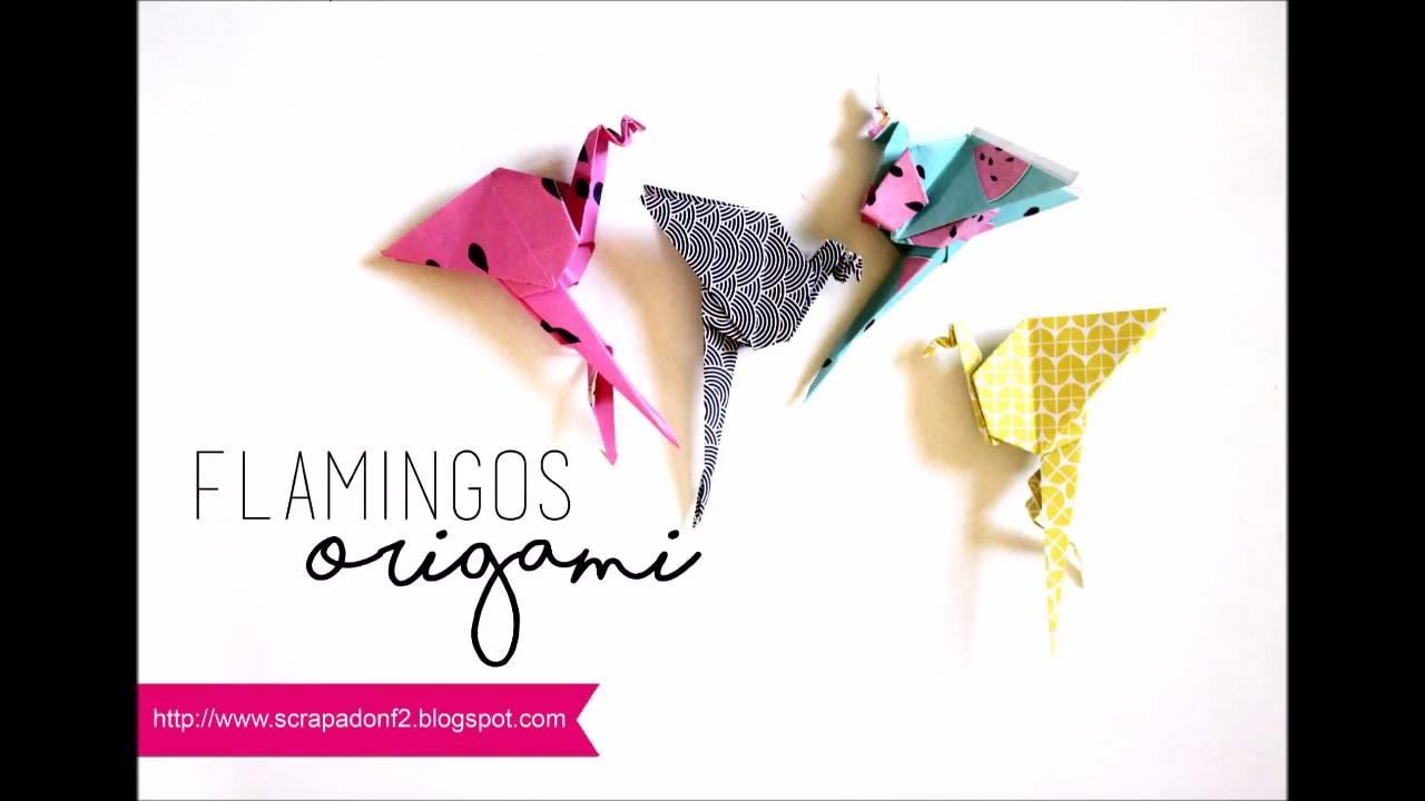 Flamingo Flamants Roses En Origami Youtube