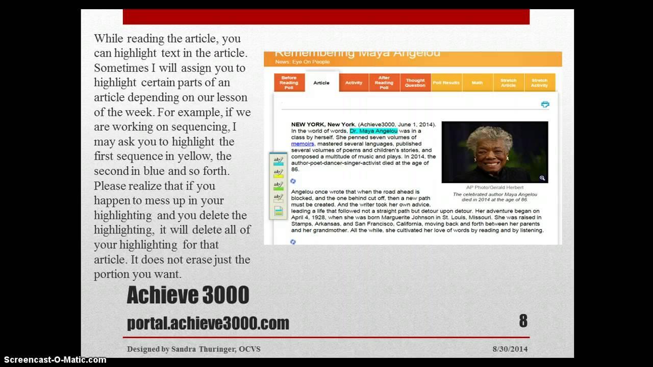 Achieve 3000 Tutorial Youtube