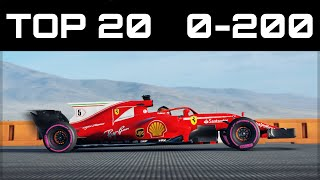 TOP 20 FASTEST 0-200 CARS | Forza Motorsport 7 | Crazy Accelerations!