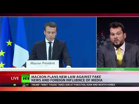 Macron plans new law against fake news and foreign influence of media