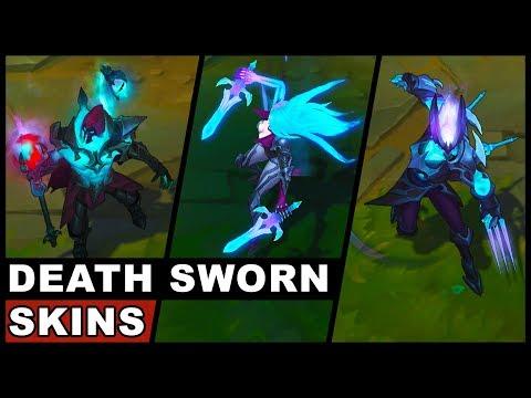 All New Death Sworn Skins Final Update Zed Katarina Viktor (League of Legends)