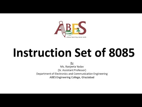 Instruction Set of 8085 by Ms. Ranjeeta Yadav [Microprocessor]