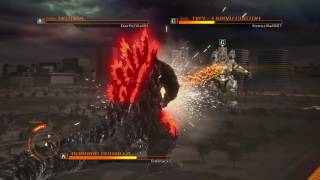 "GODZILLA PS4 versus mode : Burning Godzilla 90's vs. Kiryu vs. Mothra (Adult) ""Just Die Already!!"""