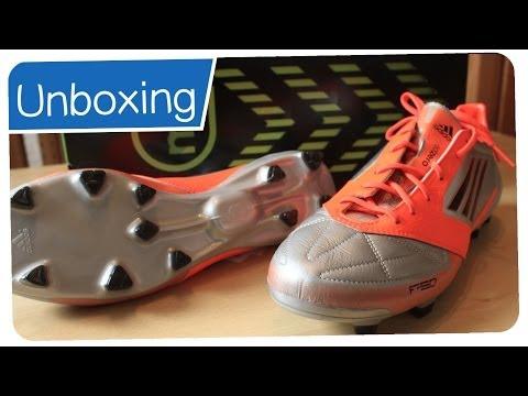 Adidas F50 Adizero TRX FG + MiCoach Silver/Orange - LIONEL MESSI Boots - UNBOXING