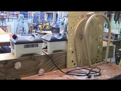 74 Building and testing wood steamer and bending jig for windsor chair