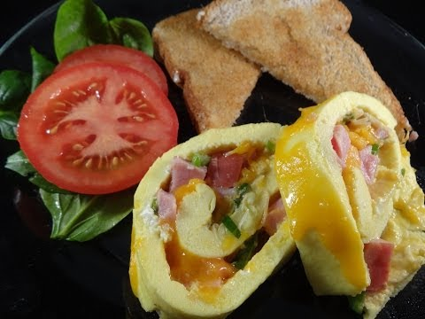Ham and Cheese Omelet Roll -with yoyomax12