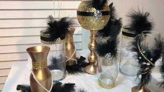 Diy Great Gatsby wedding Globe Centerpieces