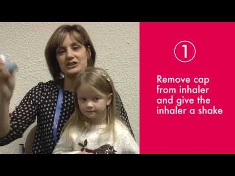 Inhaler - step by step process for young children