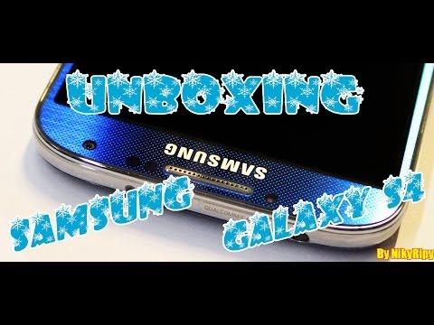 Unboxing Samsung Galaxy S4 GT i9505 Blue Arctic Italiano Con Voce