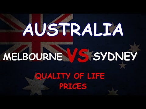 Melbourne VS Sydney / Australia / Cost of living / Quality of Life / Prices / Climate / Crime