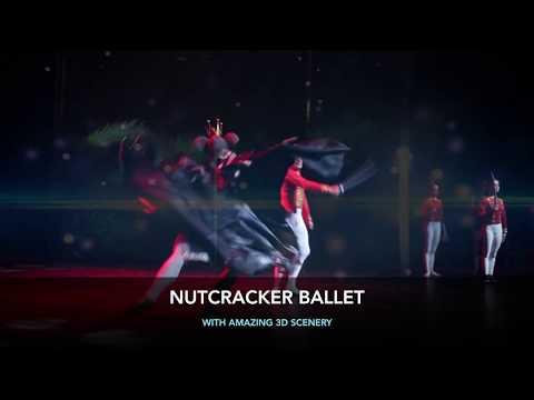 NUTCRACKER ballet with 3D decorations - 6sec promo