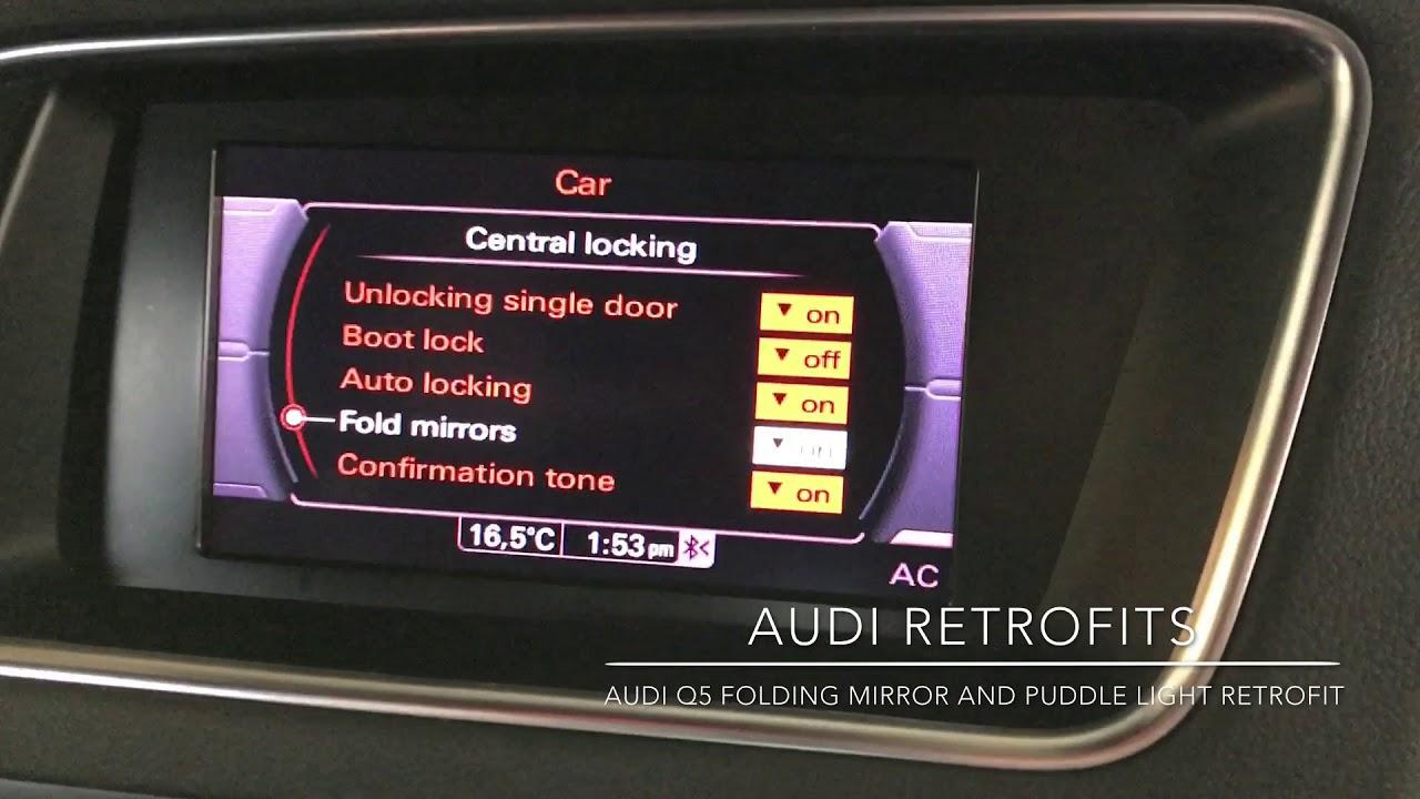 Audi Q5 Folding Mirrors And Puddle Lights Retrofit