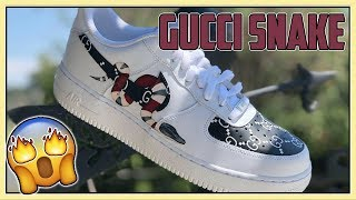 CUSTOM GUCCI AIR FORCE 1's - (Tutorial) + (DIY)