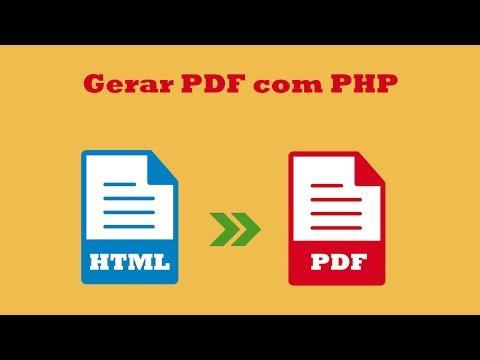 Como Gerar PDF Com PHP