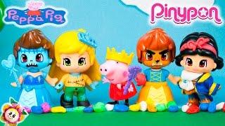 PEPPA PIG CONVIERTE A BLANCANIEVES EN LA BESTIA, A RAPUNZEL EN PINOCHO Y MUCHO MÁS! CUENTO PINYPON 1