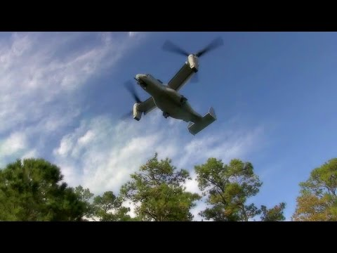 Hybrid Helicopter/Aircraft Of The Future: MV-22 Vertical Landing & Takeoff