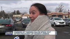 Owners of tanning salon speak out after discovery of hidden camera