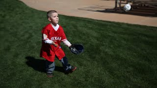 Texas Rangers ball shagger shares his family's love for baseball