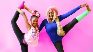 GYMNASTICS CHALLENGE PART 2!!! - Shasha And Shiloh - Onyx Kids
