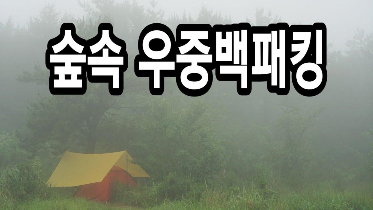 비오는산 숲속에서 타프치고 하룻밤/우중캠핑/솔로캠핑/힐레베르그 우나/우중캠핑후 텐트말리기