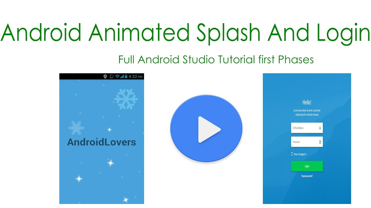 Animated Splashscreen for android tutorial Android TuTorials