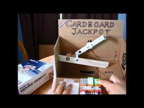 arduino cardboard jackpot game