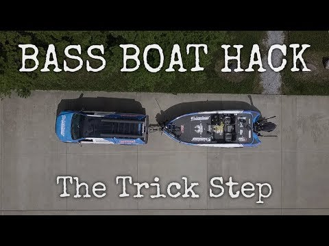 The BEST way to get in and out of a Bass Boat!