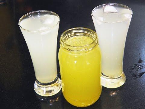 लिंबू सरबत सिरप | Limbu Sarbat Syrup | Lemon Squash Recipe | SummerDrink | MadhurasRecipe