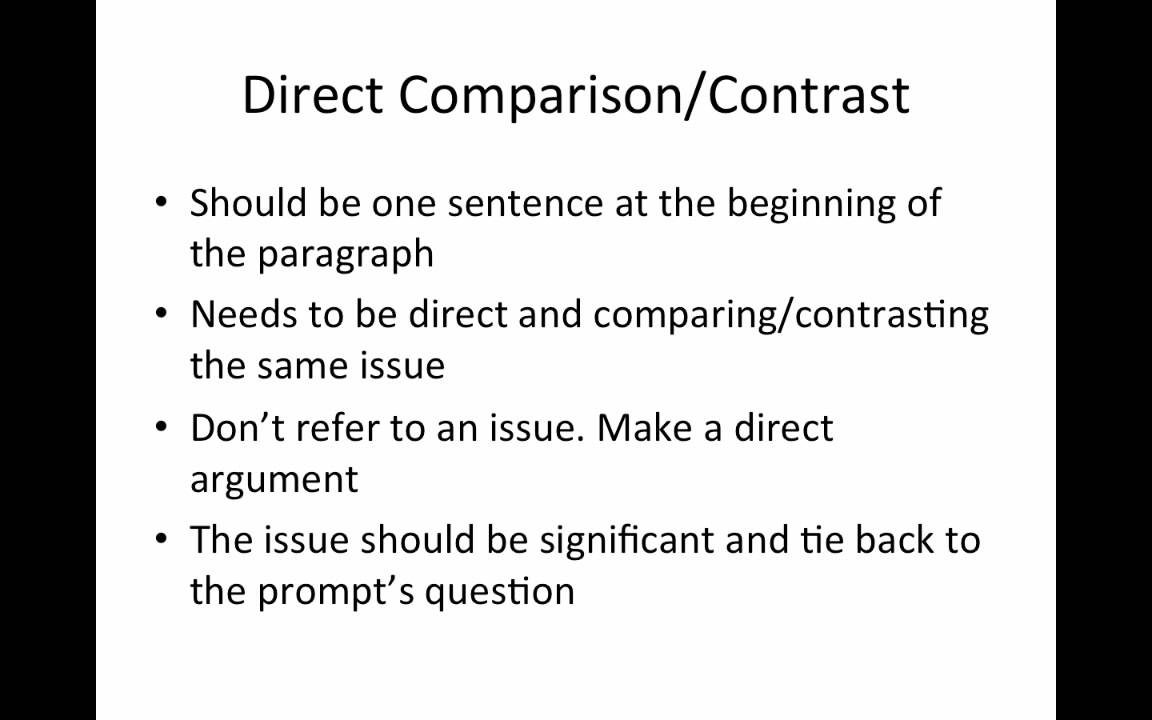 comparison and contrast tutorial comparison and contrast tutorial