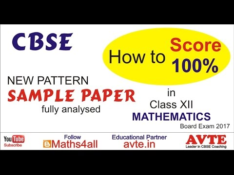 Cbse Sample Paper Xii New Pattern Class Xii Fully Analysed Get