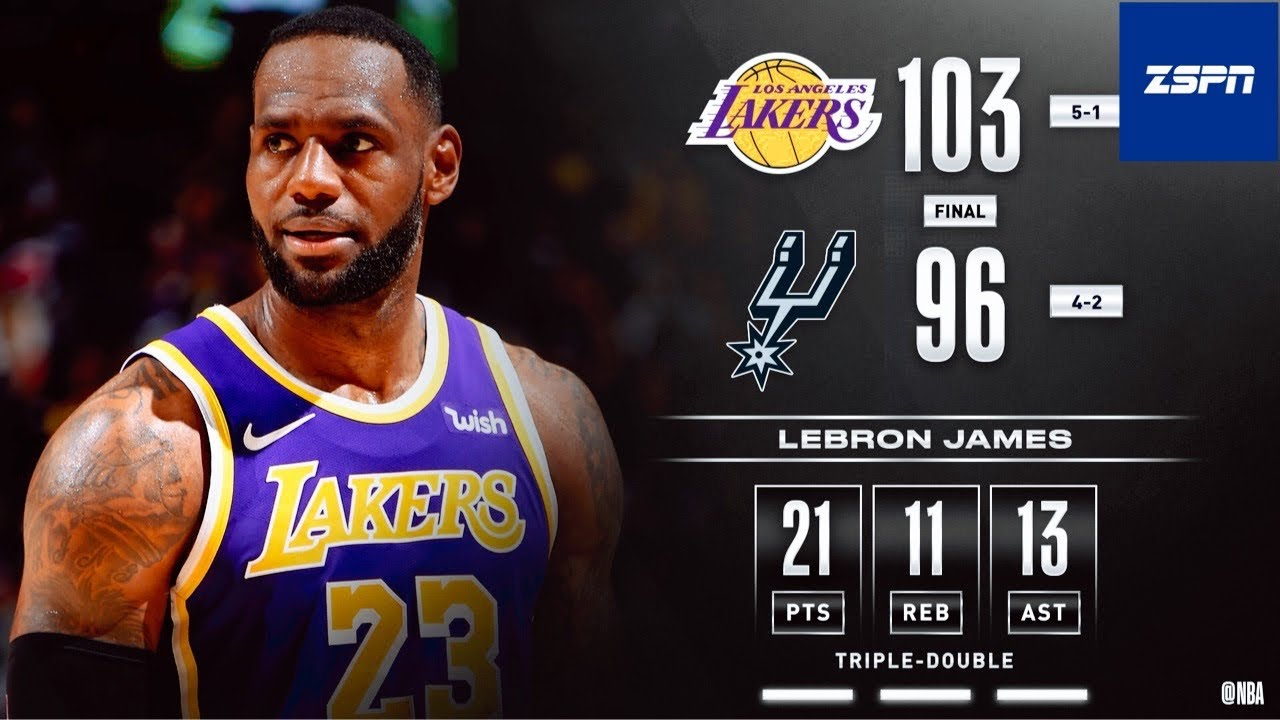 LeBron James' Triple-Double Leads Anthony Davis, Lakers to Road ...