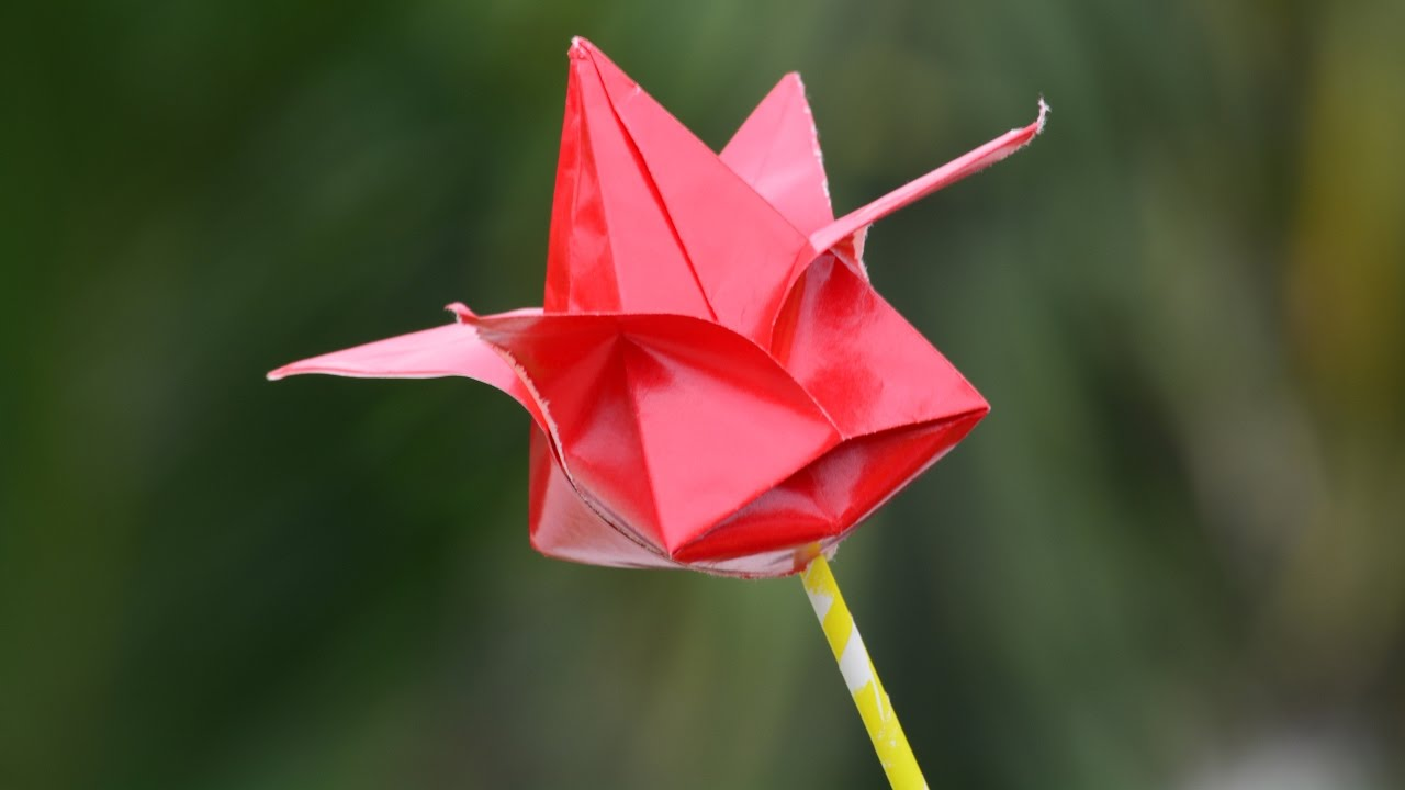 How to make paper flowers easy step by step origami for How to make a lotus with paper