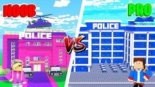 Minecraft NOOB VS PRO : GIRL VS BOY POLICE STATION in Minecraft!