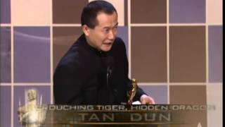 "Tan Dun winning Original Score for ""Crouching Tiger, Hidden Dragon"""