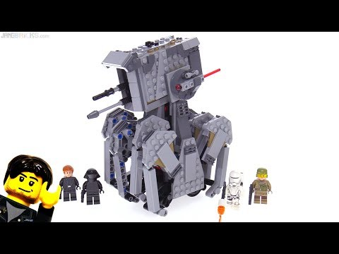 LEGO Star Wars The Last Jedi First Order Heavy Scout Walker review! 75177