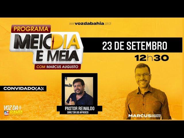 Programa Meio Dia e Meia com o presidente dos sem tetos J. Santos e o pastor Reinaldo Barreto