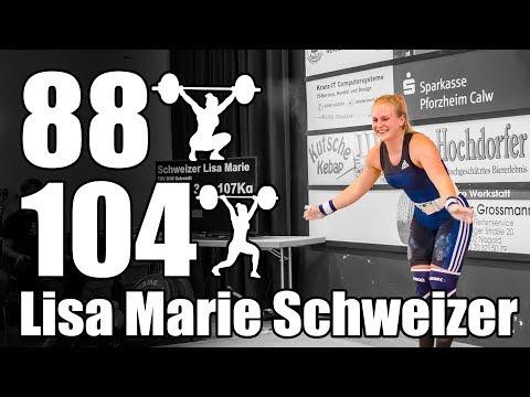 Lisa Marie Schweizer (62.5kg Germany) 88kg Snatch 104kg Clean and Jerk - 2017 Women Grand Prix