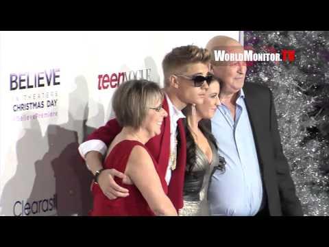 Justin Bieber Fan Frenzy Usher, Pattie Mallette, Scooter Braun at 'Believe' LA premiere Mp3